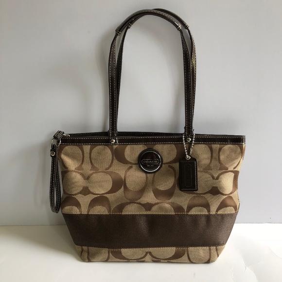 e59db907660a Coach Handbags - Coach Signature Logo Bucket Tote Bag